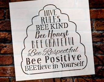 Hive Rules - Word Art Stencil - Select Size - STCL2182 - by StudioR12