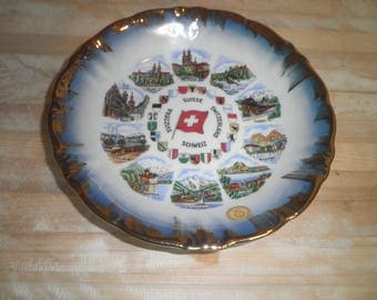 Vintage Winterlug Bavaria decorative plate made in Germany