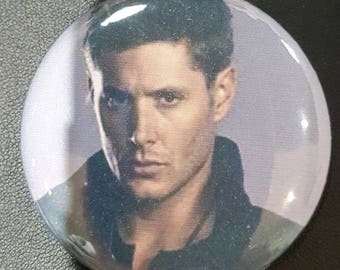 Dean Winchester, Jensen Ackles pin back  Button