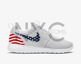 American Flag 17' Nike Roshe One Custom Men Women & Kids