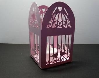 Lozenge box cage - bird cage baroque theme