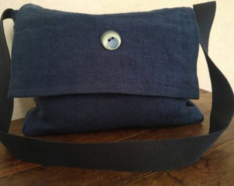 Navy Blue hemp bag