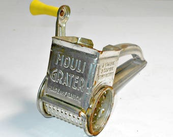 Mouli French Grater,French Grater,Kitchen Gadget Grater,Made in France Grater,Kitchen Utensil Grater,1950 Mouli Grater,Mouli Cheese Grater