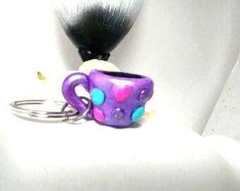 Coffee cup key chain, Book bag charm, Coffee gift, Coffee key ring, Coffee lover, Cute coffee key chain, Coffee key chain, Coffee charm