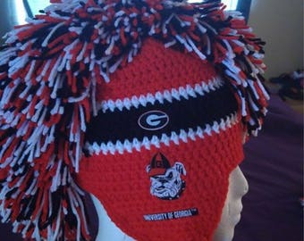 Crochet Georgia Bulldogs beanie