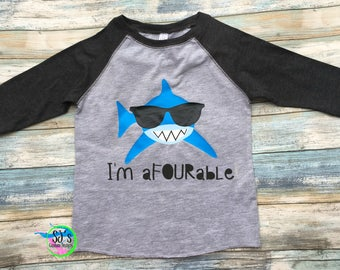 Fourth birthday shirt, Shark birthday, Shark birthday shirt, Raglan birthday, fourth birthday, shark shirt, boys birthday shirt, boy shirt