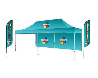 Customized Display Package for 6m x3m Trade Show Booth free design by bannerbuzz