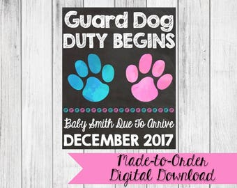 Guard Dog Duty Pregnancy Announcement