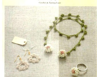 """96 JAPANESE CROCHET and TATTING Pattern-""""Crochet and Tatting Lace""""-Japanese Craft E-Book #119.Instant Gownload Pdf file."""