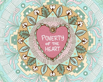 Poverty of the Heart - A6 24 page self-published mini comic