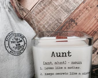 Soy Candle / Aunt gifts / Best Aunt Gifts / Gifts For Aunt / Candle With Message / Aunt Birthday Gifts / Aunt Definition