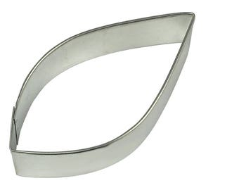 "Leaf Cookie Cutter Teardrop Cookie Cutter Raindrop Cookie Cutter 3.75"" RM-809"