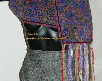 beautiful scarf handmade, lightweight, crochet, unique piece. Creating Madame Bo
