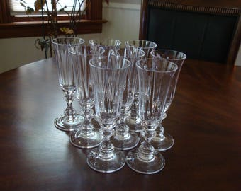 Reserved for Alison: Mikasa FRENCH COUNTRYSIDE Clear Optic Toasting Champagne Flutes (6)!