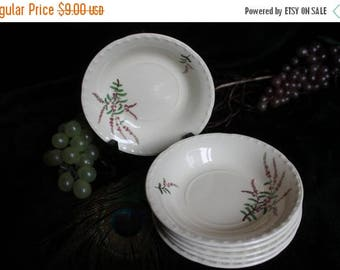 Christmas in July Crooksville China Co. Set of 6 Berry Bowls - Lilacs