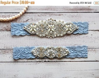 ON SALE Wedding Garter, NO Slip Lace Wedding Garter Set, bridal garter set, pearl and rhinestone garter set, vintage rhinestones Style A2038