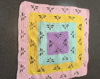 Multi color baby blanket