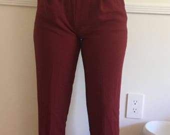 Vinatge insipred 90s maroon trousers