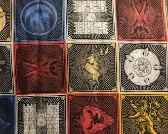 HBO Game of Thrones Cotton House Sigil Fabric BTY