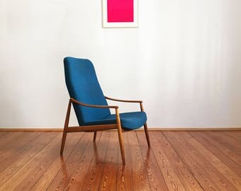 Mid century cherrywood - armchair high back by Hartmut Lohmeyer