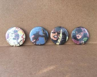 Catwoman, Comic Book Button,    1.5 inch pin back button, 37 mm pinback button
