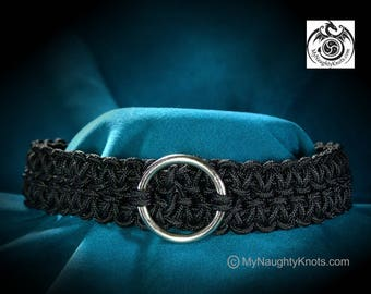 Black Knotted BDSM Slave Collar