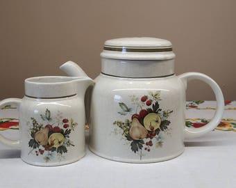 Royal Doulton Cornwall Teapot and Creamer, Royal Doulton Lambethware