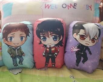 Lance, Keith, Shiro - Voltron - Pillow Plushie
