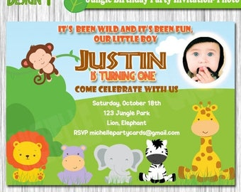 50% Off Jungle Birthday Party Invitation-Photo