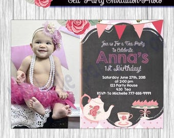 50% Off Tea Party Invitation-Photo-Available in 4x6 or 5x7 formats