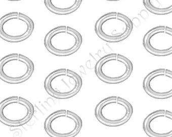 TierraCast Small Oval Jump Rings, Silver Plated Brass, Approximately 3x4mm, 20 Gauge, Authorized TierraCast Dealer, USA Seller (T511)