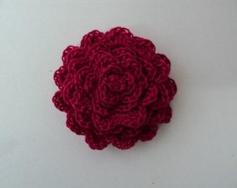 10 flowers color red CROCHET Ø 5 cm. ref: Z34 5 color A358