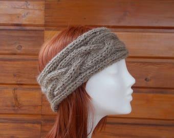 Dark beige women headband