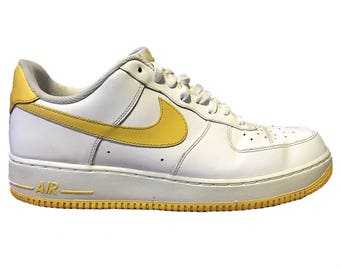 Nike White and Yellow AF1's