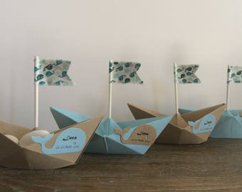 Boat flags for weddings & christenings Original dragees boxes