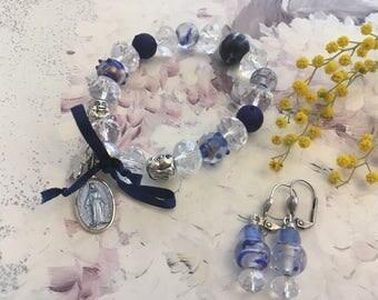 set romantic bracelet Crystal beads earrings