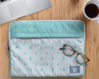 "13"",15"" turquoise laptop sleeve, macbook sleeve, macbook pro 13"" sleeve case, apple12"" macbook sleeve case,macbook pro 15"" sleeve case"