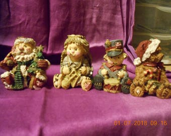 Christmas Figurines - Set of 4