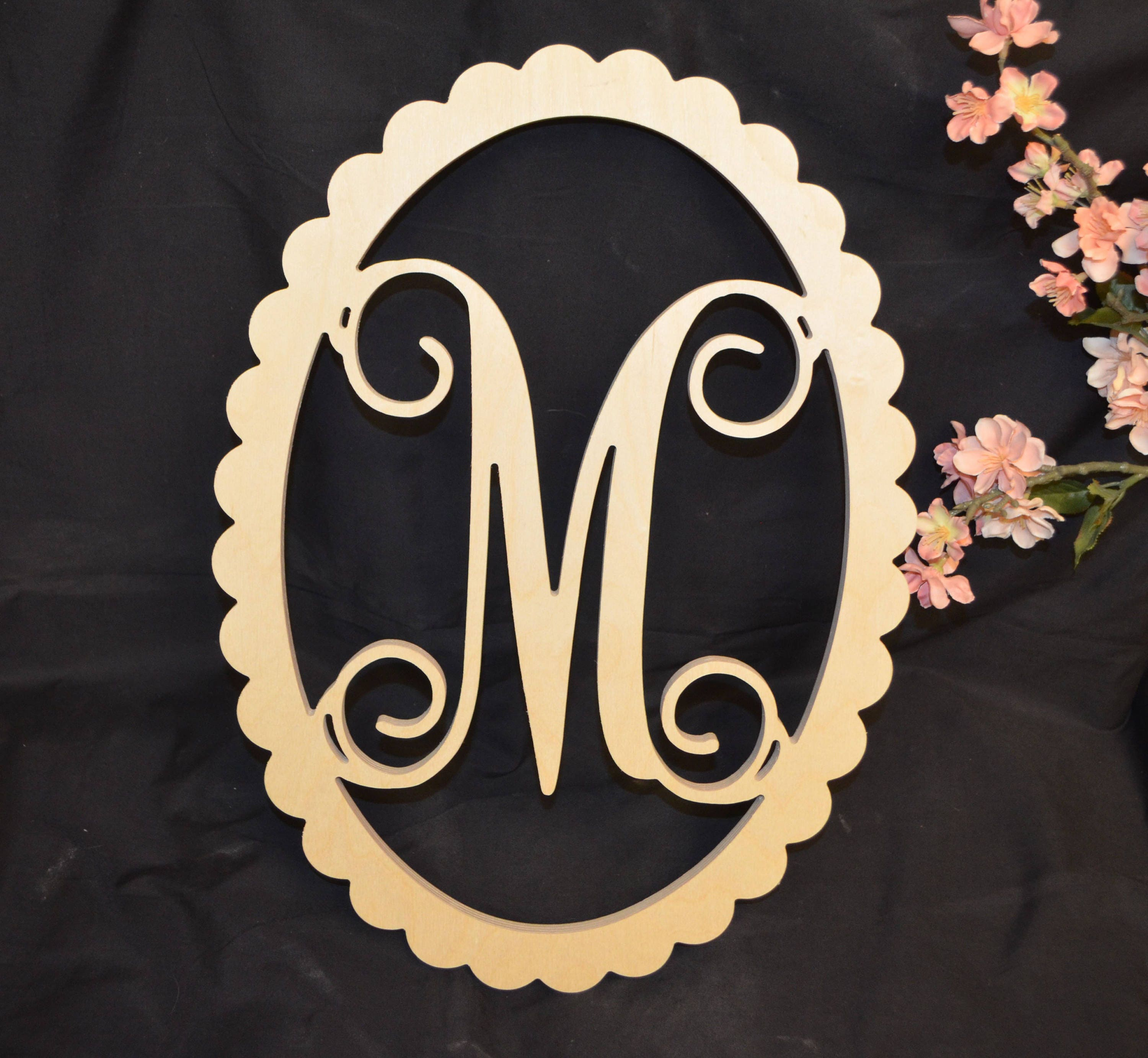 Door Hanger - Wooden Initials - Wall Letters - Nursery Sign - Monogram Wall Hanging - & Wreaths u0026 Door Hangers  Home u0026 Living