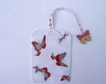 Bookmark with butterflies fabric