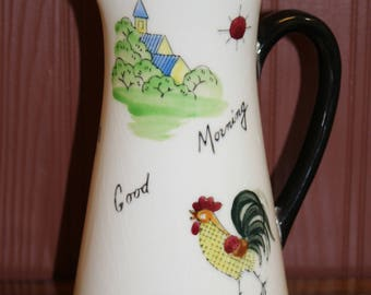 1961 Inarco Good Morning Rooster Pitcher