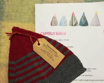 Newborn Elven Pure wool hat for 0-6 months