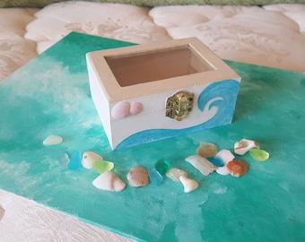 Ocean Jewelry box- Handmade