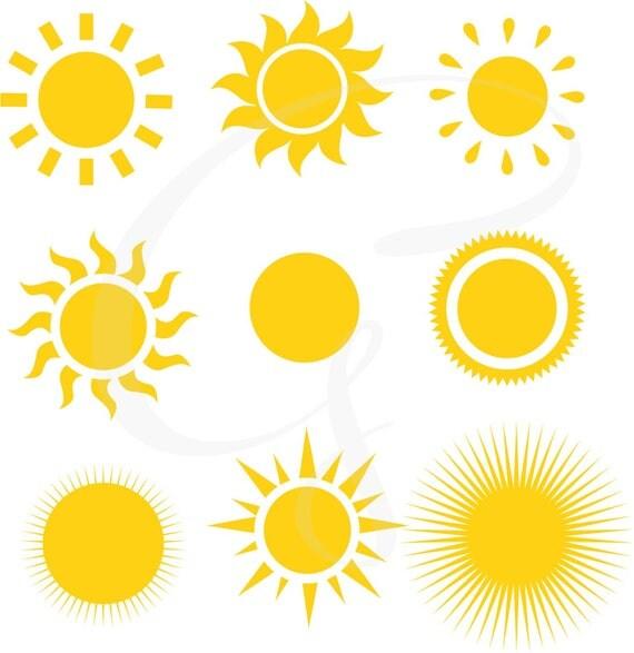 sun clipart sun digital clipart sunshine commercial use sun rh catchmyparty com free sun ray clipart sun rays clip art images