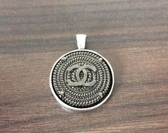 Designer Button Pendant