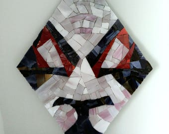 Stained glass mosaic mask