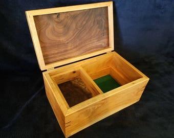 Keepsake Box, Memory Box, Jewelry Box - Cherry & Walnut