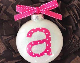 Monogramed Christmas Ornament