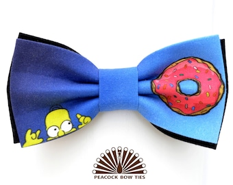 Simpsons bow tie. Homer bow tie. Bow tie for men. Bow ties for kids.  Bow tie for wedding. Bow Tie for Boys.  Bow Ties for Baby.