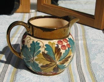 Wade Harvest Lusterware, Cream Pitcher, Made in England